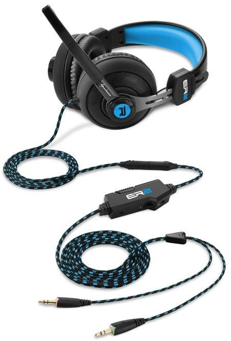 Ausinės Sharkoon Rush ER2 Gaming Headset Black/Blue