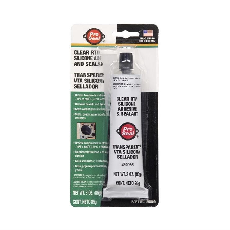 Герметик ProSeal Clear RTV Silicone Adhesive & Sealant 85g