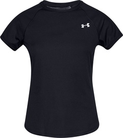 Under Armour Womens Speed Stride Short Sleeve Shirt 1326462-001 Black S