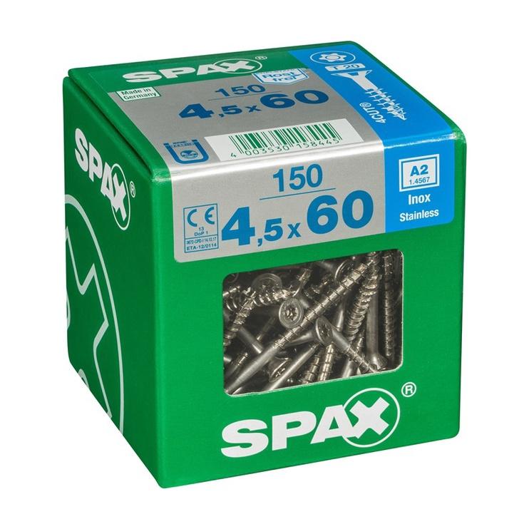 PUIDUKRUVI SPAX A2 4,5X60  TX  150 TK.
