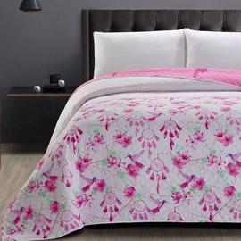 Gultas pārklājs DecoKing Sweet Dreams, balta/rozā, 220x200 cm