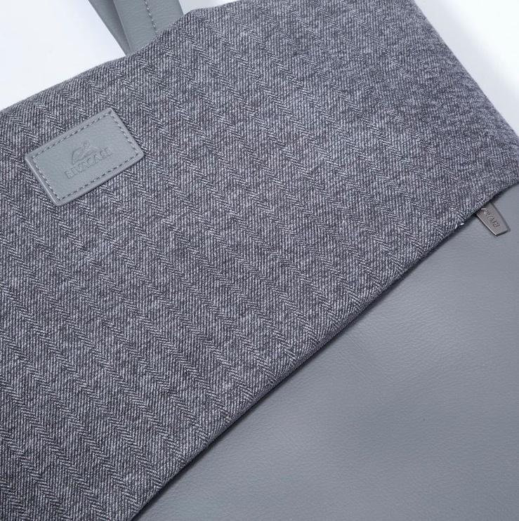 Ручная сумка Rivacase, серый, 13.3″
