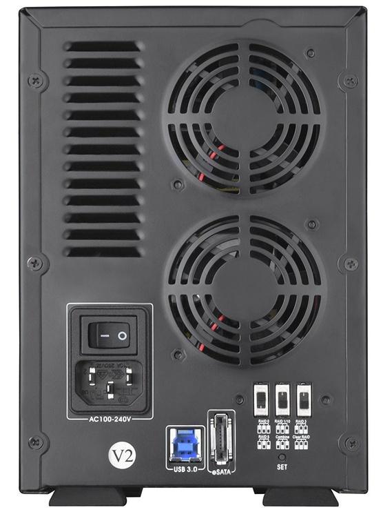 "SilverStone External Enclosure SST-TS432U-V2 RAID 4 Bay 3.5"" HDD Black"