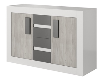 Idzczak Meble Helios 27 4S2D Chest Of Drawers White/Grey