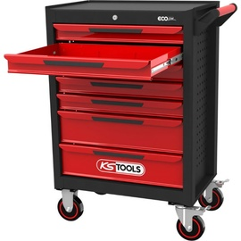 Kstools ECOline Tool Cabinet With 7 Drawers Black/Red