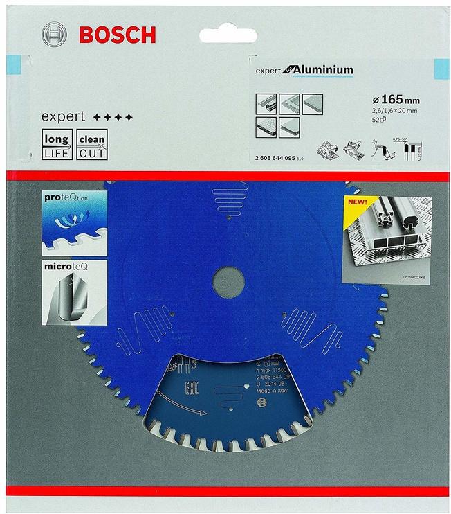 Bosch Professional 2608644095 Circular Saw Blade Expert Aluminium 165x20mm