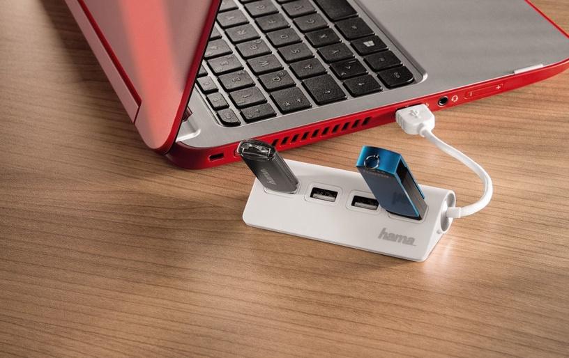 USB-разветвитель (USB-hub) Hama USB 2.0 Hub 4-port White