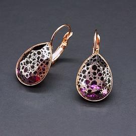 Diamond Sky Earrings Crystal Drop II Amethyst Rose Patina With Swarovski Crystals