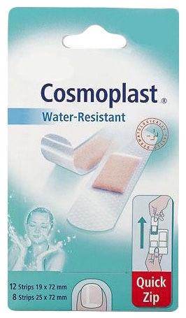 Пластырь Cosmoplast Water Resistant Quick Zip, 20 шт.