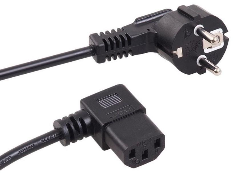 Maclean Cable AC Power Plug / IEC C13 Black