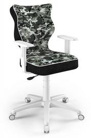 Детский стул Entelo Duo ST33 Size 6, белый/черный/зеленый, 425 мм x 915 - 1045 мм