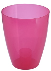 Puķu pods Patrol Eria, 13x17cm, caurspīdīgs, rozā