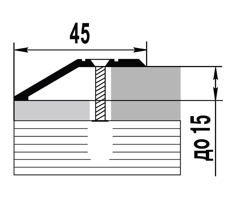 Parketo kampas C3, aukso, 270 x 4.5 x 1.5 cm