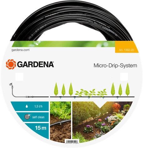 Gardena Micro-Drip-System Above Ground Drip Irrigation Line 4.6mm 15m