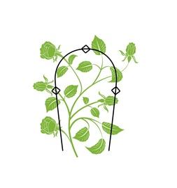 Augalų atrama, metalinė, žalia, 80 cm