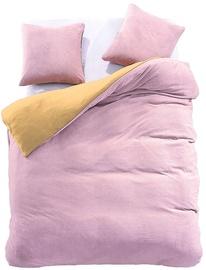 DecoKing Furry 08 Bedding Set Light Pink/Yellow 200x220/80x80 2pcs