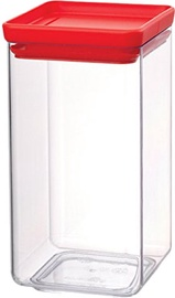 Brabantia Square Canister Tasty 1.6l Red