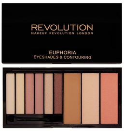 Makeup Revolution Euphoria Eyeshades & Contouring Palette 18g Bare