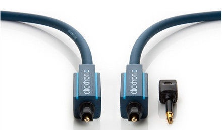 Clicktronic Optical Digital Cable TOSLINK To TOSLINK+3.5mm 2m