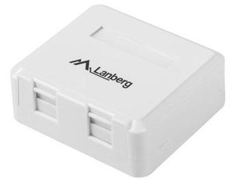 Lanberg Surface Mount Box For Keystone Modules 2-port White