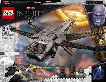 Конструктор LEGO Marvel Корабль Чёрной Пантеры «Дракон» 76186, 202 шт.