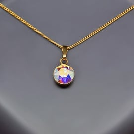Diamond Sky Pendant Classic Aurora Borealis With Swarovski Crystals