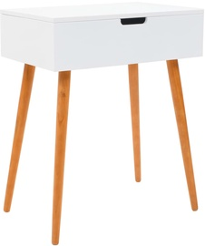 Kosmētikas galds VLX With Mirror 245751, brūna/balta, 60x40x75 cm, with mirror