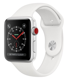 Apple Watch Series 3 42mm GPS + Cellular Silver Aluminium White Band