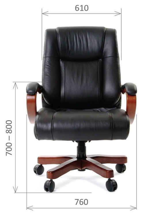 Chairman 403 Leather Black