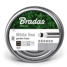 """Bradas White Line Garden Hose 1/2"""" 20m Grey"""