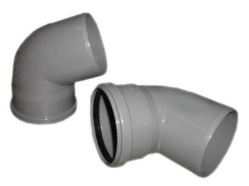 Kanalizācijas caurules 67° līkums Wavin D110mm, PVC