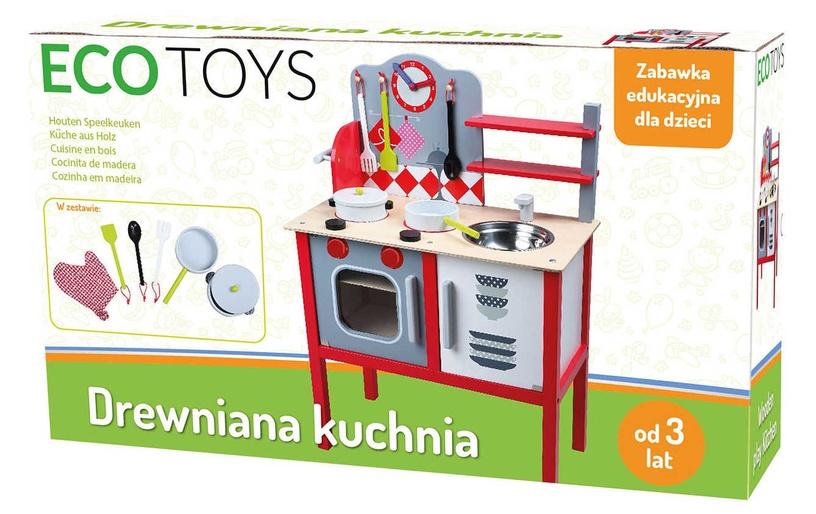 EcoToys Wooden Play Kitchen 4201