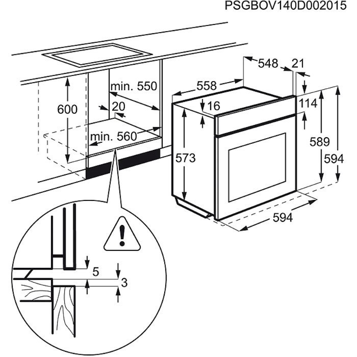 Integreeritav ahi Electrolux EOB3454AOX