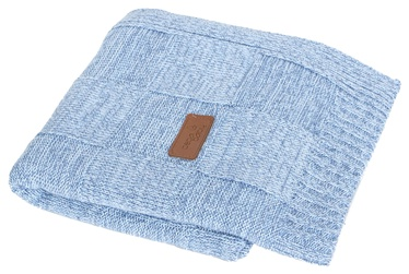 Ceba Baby Jersey Knitted Blanket 90x90cm Check Blue