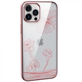Чехол Devia Crystal Flora, золотой/розовый