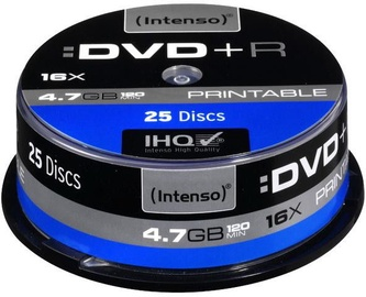 Intenso DVD+R Printable 16x 4.7GB 25pcs. Cake Box 4811154