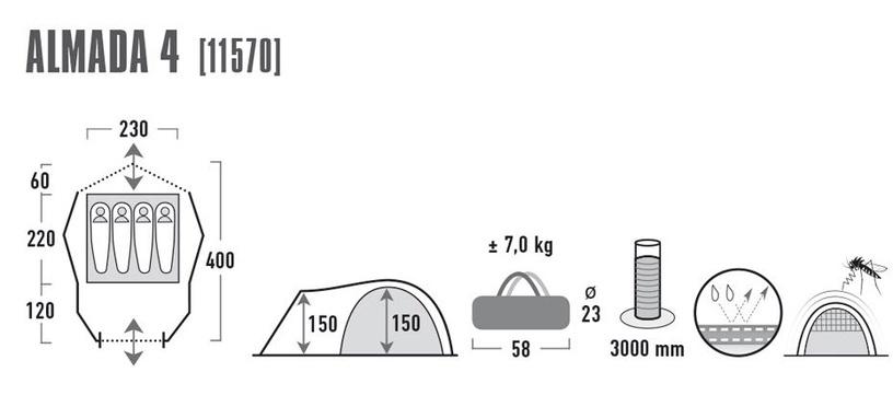 Palapinė High Peak Almada 4 11570