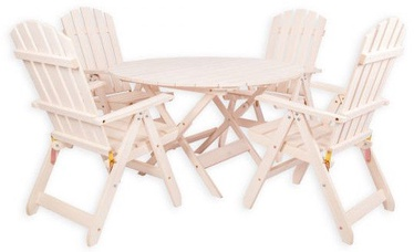 Folkland Timber Folding Garden Set Canada 4 White