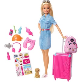 Mattel Barbie Travel Doll And Accessories FWV25
