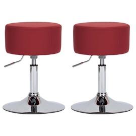 Барный стул VLX Faux Leather 249557, красный, 2 шт.