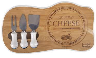 Home4you Gourmet Bamboo Cheese Cutting Set