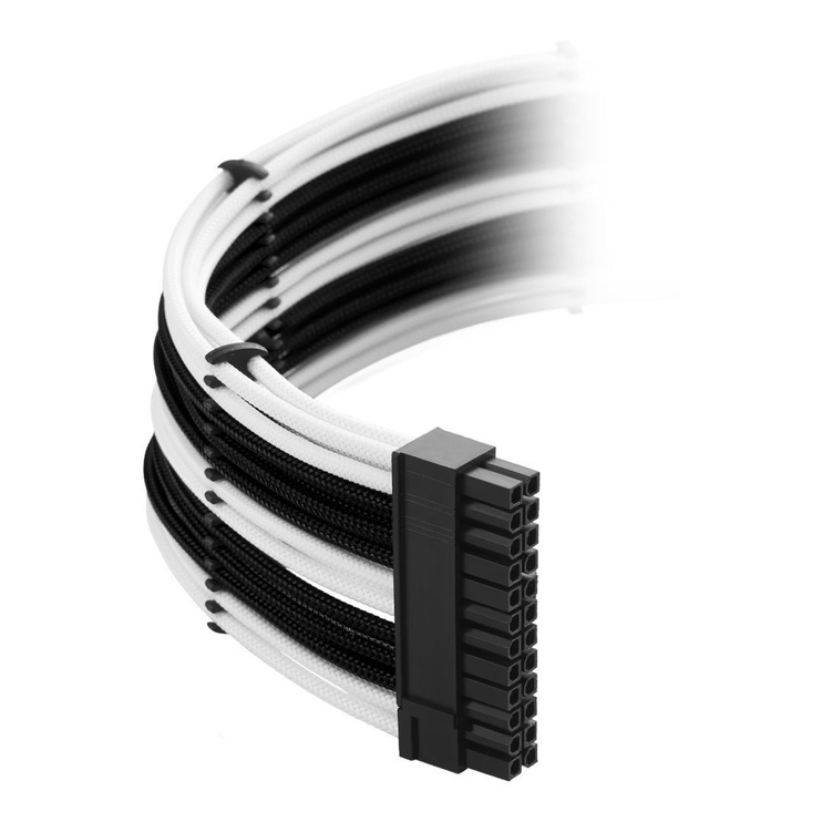 CableMod C-Series ModMesh Classic Cable Kit For Corsair AXi/HXi/RM(Yellow Label) Black/White