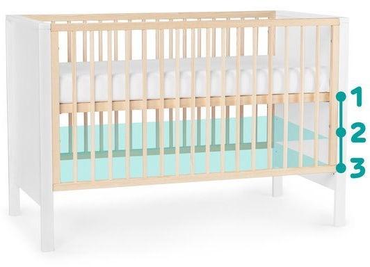 Детская кровать KinderKraft Mia Grey, 65x129 см