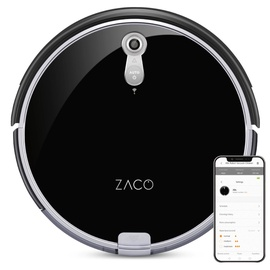 Zaco A8s Robot Vacuum Cleaner Black
