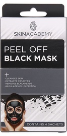Skin Academy Peel Off Black Mask 4pcs