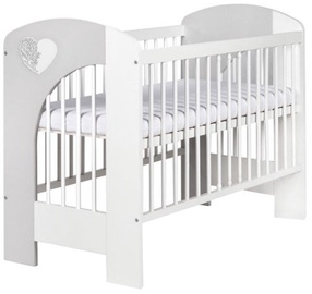 Klups Nel Heart Cot White/Grey