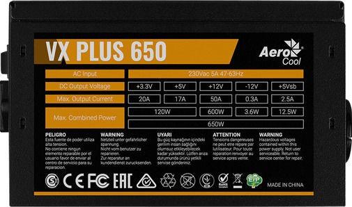 AeroCool VX-650 Plus 650W