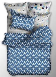 Gultas veļas komplekts DecoKing Basic, zila/balta, 155x220/80x80 cm