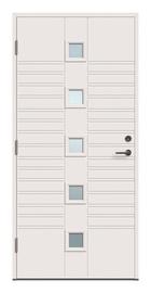 Lauko durys Viljandi Kaia 5x1R, 2088 x 990 mm, kairinės