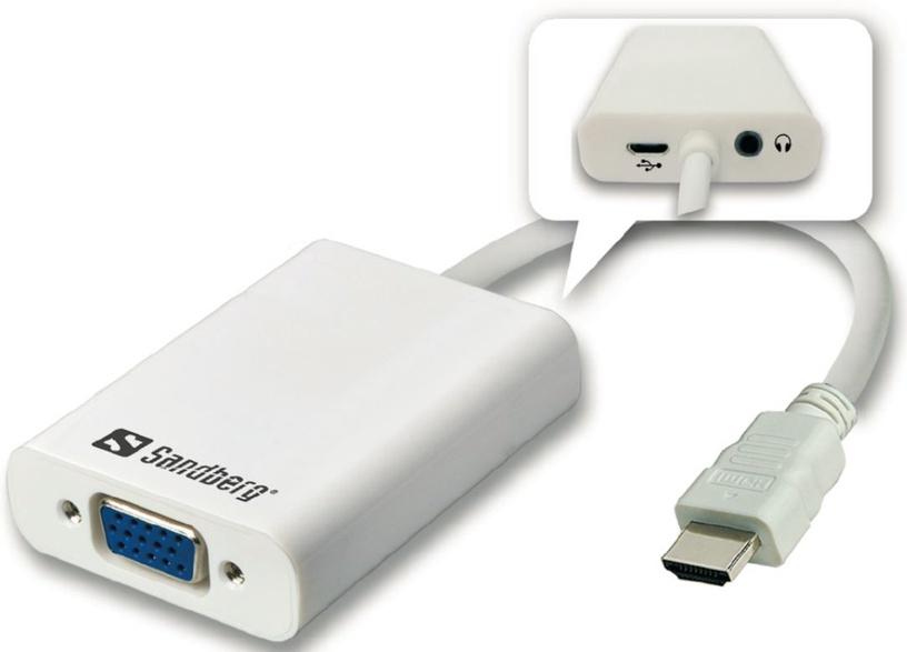 Sandberg Adapter HDMI to VGA+Audio Converter